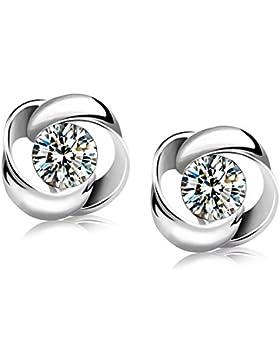 Modische Ohrringe Swarovski Elements Silber Silber Für Damen Frauen Kinder Fashion Elegante Kristall Ohrstecker...