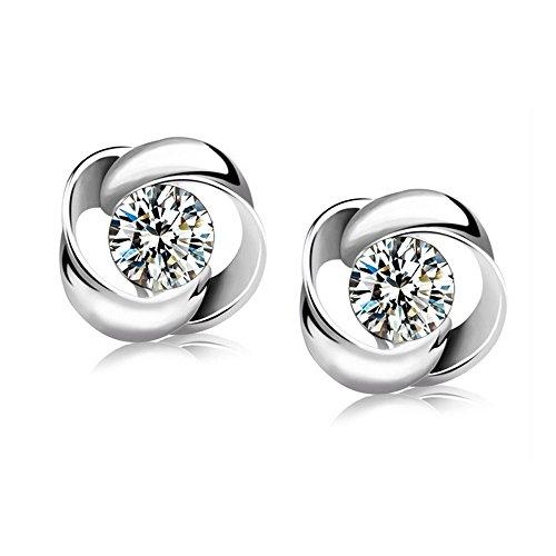 Modische Ohrringe Swarovski Elements Silber Silber Für Damen Frauen Kinder Fashion Elegante Kristall Ohrstecker Geschenk Valentinstag