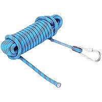 Alomejor Cuerda de Escalada, 12 mm, Resistente Cuerda de Paracaídas con Mosquetón, 10 m