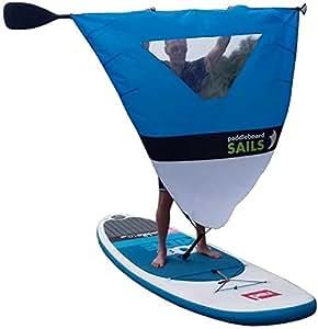Vela con Finestra trasparente per paddleboard (azzurro/bianca)