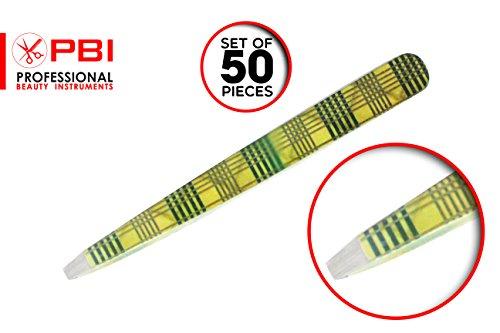 Pincette à sourcils - plumeuse - pince à épiler - Pincette colorée - 9.5 cm - Set de 50 pièces - Acier inoxydable de PBI
