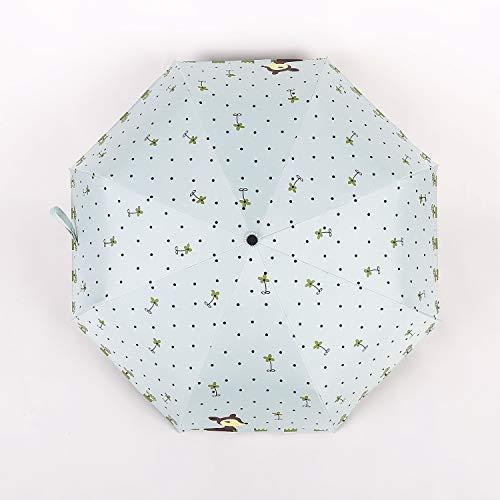 KTYH Taschenschirm Regenschirm One-Touch-Automatik Öffnen und Schließen von 8 Knochen Regenschirmen niedlichen Hirsch Design Winddicht wasserdicht Taschenschirm mit Aufbewahrungstasche Licht -