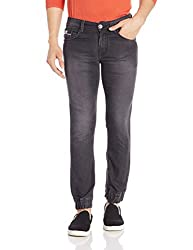 John Players Mens relaxed Jeans (8907349014007_ZCMWJNA160084_32W x 36L_Jet Black)