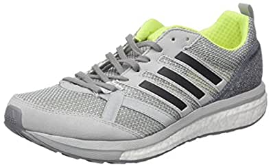 90cb7317f67154 adidas Herren Adizero Tempo 9 Laufschuhe Grau (Grey Two Core Black Solar  Yellow