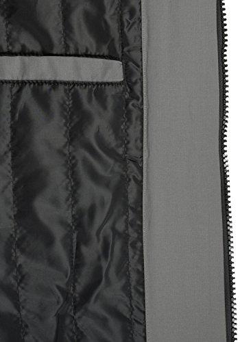 BLEND Marc Herren Winterjacke Bomber-Jacke mit Kapuze aus hochwertigem Material Granite (70147)