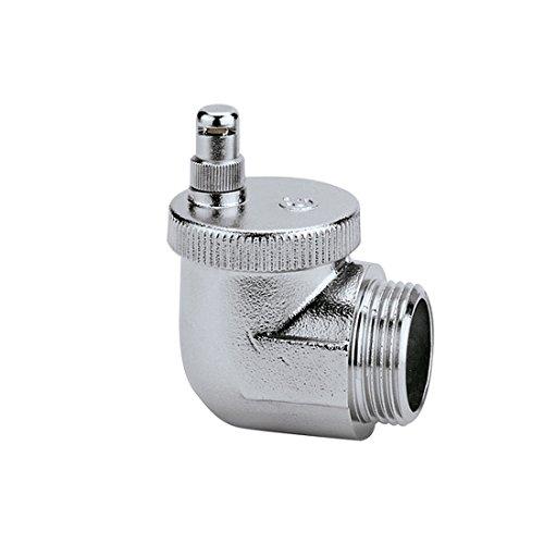 Caleffi 504501 AERCAL Automatischer Schnellentlüfter 3/4 Zoll AG Entlüftungsventil Entlüfter Eck Heizkörperventil aus Pressmessing Verchromt