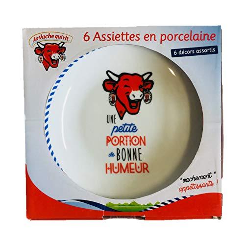 La Vache Qui Rit Lot de 6 Assiettes en Porcela