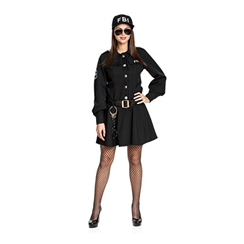 Kostümplanet® Polizei-Kostüm Damen sexy FBI Agentin Kostüm Polizistin Größe 36/38