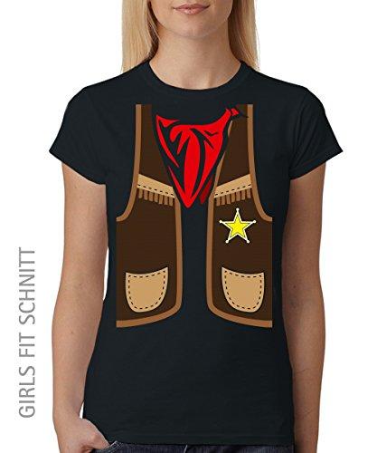 ::: COWBOY ::: Unisex T-Shirt Schwarz, Größe M