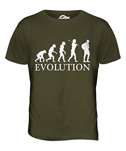 CandyMix Tourist Evolution Des Menschen Herren T Shirt Khaki Grün