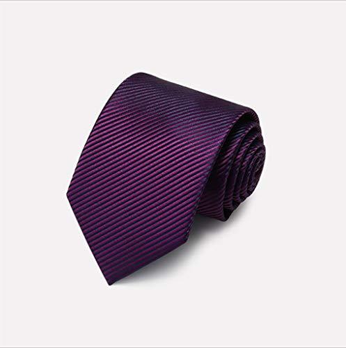 QZ HOME Krawatte Qualität Polyester Herren-Diagonale Streifen Mode Geschäft Mit Lila, Blau 3,5 * 8 * 145cm (Farbe : 1) - Blau Diagonale Streifen-krawatte