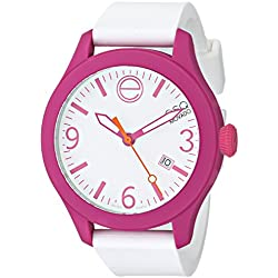 ESQ by Movado Women's 42mm White Silicone Band Steel Case Quartz Analog Watch 07101431