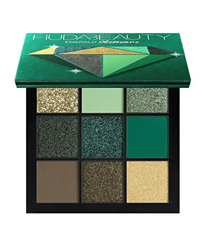 HUDA BEAUTY Obsessions Eyeshadow Palette - Precious Stones Collection COLOR: Emerald