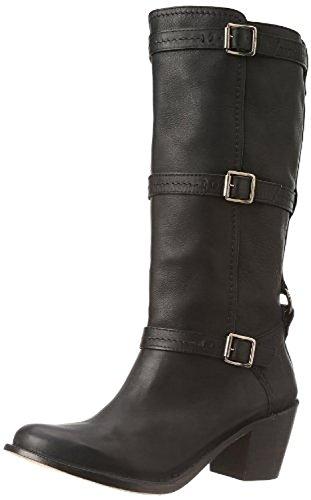 Frye Damen Carmen 3 Strap Boot Schwarz Gr??e 6.5 (High Round Boots Knee Toe)