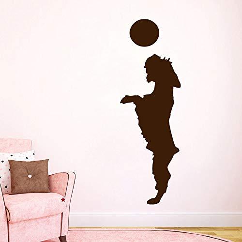 Welpe Spielen Mit Einem Ball Wandaufkleber Steuern Dekor Tier Hund Wandtattoos Wohnzimmer Kinder Kinderzimmer Dekoration 132 cm x 44 cm