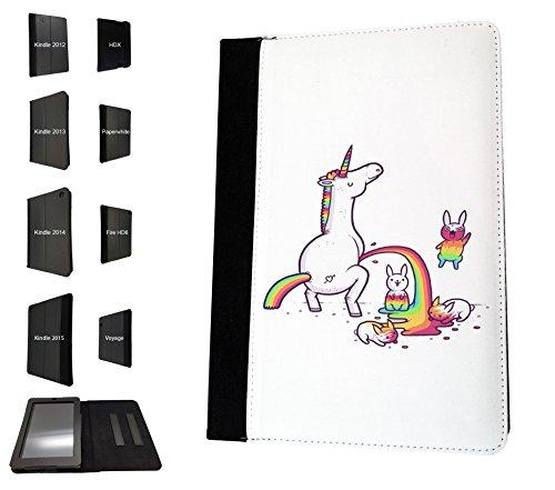 1642 – Cool Cute Funny Unicorn diseño de arco iris Peeing en conejos diseño  Amazon Kindle 3a7b7c01478