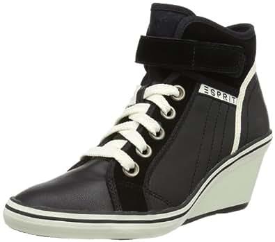 esprit lexa tape wedge 014ek1w008 damen sneaker schwarz black 001 eu 42 schuhe. Black Bedroom Furniture Sets. Home Design Ideas