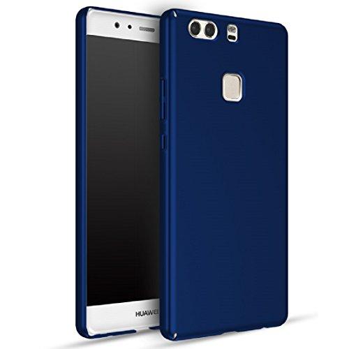 Apanphy Huawei P9 Plus Hülle , Hohe Qualität Ultra Slim Harte Seidig Und Shell Volle Schutz Hinten Haut Fühlen Schutzhülle für Huawei P9 Plus, Blau