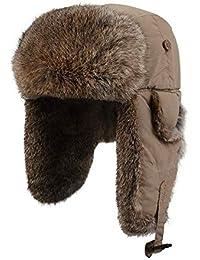 Gorra De Esquí Sombrero De Piel Masculina Sombrero De Hombre Sombrero De  Invierno Al Aire Libre 95d04b08ae4