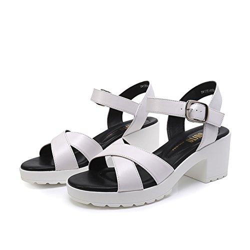 Ladies High Heels , Épais Avec Une Boucle Sandales A