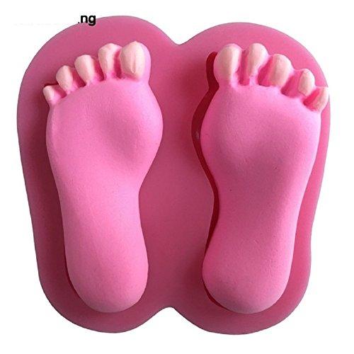 Inception Pro Infinite Zwei-Personen-Füße Silikonform für Lebensmittel verwenden - Füße Silikonform