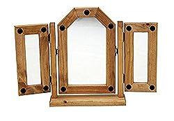 Mercers Furniture Corona Triple Mirror - Pine