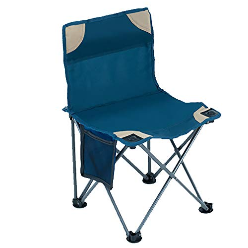 Chaise De Pliage Chaise De PêChe Portable Chaise De Retour en Plein Air ArrièRe Petit Cheval Bar Chaise De Plage LumièRe Peinture à l'huile Tabouret Croquis Chaise Bleu 36 * 36 * 57cm