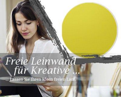 Bilderdepot24 Toile en Or, paintable qualité Premium, monté sur Le châssis - Le Format Rond - Environ 60 cm - 310g/m² - complètement encadrée, 7 Couleurs Disponibles