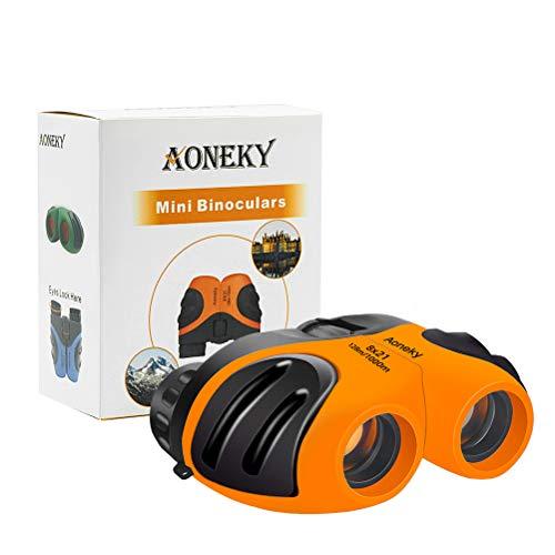 Aoneky Compact Mini Gummi 8 x 21 Kinder Fernglas für die Vogelbeobachtung, Best Christmas Geschenke...