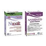 Bioserum - Pack Ansiomed Mente Positiva 45 Cápsulas + Nervolit 40 Cápsulas - Regula de forma natural tu estado de animo y sistema nervioso