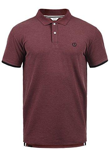 !Solid BenjaminPolo Herren Poloshirt Polohemd T-Shirt Shirt Mit Polokragen, Größe:L, Farbe:Wine Red Melange (8985) - Red Golf-polo-shirt