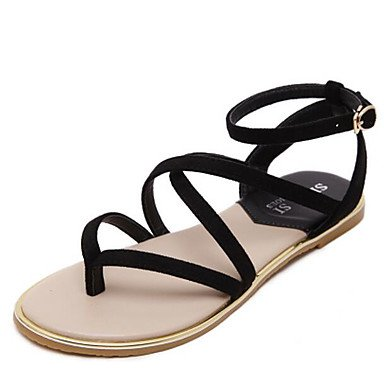 RTRY Donna Sandalo Comfort Estate Pu Mandorla Casual Piatto Nero US7.5 / EU38 / UK5.5 / CN38