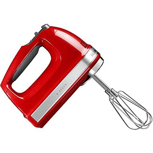 Kitchenaid 5KHM9212 5KHM9212EER Handrührer, rot, Kunststoff, Edelstahl