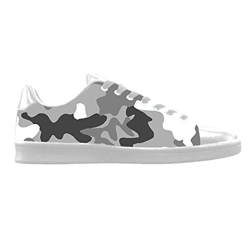 Custom Camouflage Mens Canvas Shoes Chaussures Lace Up High Top pour Sneakers Toile Chaussures de chaussures de toile chaussures de sport B