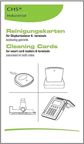 Reinigungskarten für Magnet- und Chipkartenleser *5er-Pack * SCR Cleaning-Card (z.B. ChipDrive, ReinerSCT, Cherry, POS, EC, eHealth, Time Recording, Zeiterfassung, Zugangskontrolle und weitere Lese-/ Schreibgeräte für kontaktbehaftete Chipkarten)