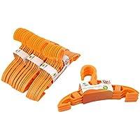 AzuNaisi 40 Unidades Escudo plástico Durable de Ropa Pantalones de Ropa Perchas para Bebés y Niños