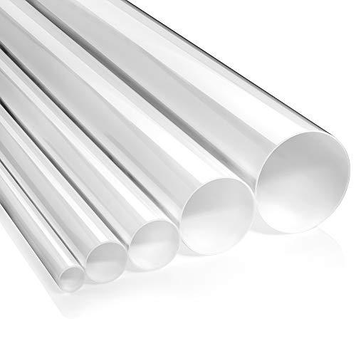 Acrylglasrohr XT Ø 80/74mm (Aussen/Innen), opal, 1000mm lang - Zeigis® / milchig/PMMA/weiss/extrudiert