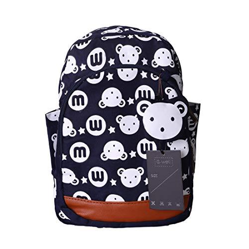 GWELL Süß Bunny Bär Babyrucksack Kindergartenrucksack Kleinkind Kinder Rucksack Mädchen Jungen Backpack Schultasche dunkelblau