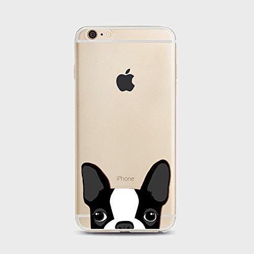Coque iPhone 7 Housse étui-Case Transparent Liquid Crystal Chat en TPU Silicone Clair,Protection Ultra Mince Premium,Coque Prime pour iPhone 7 (2016)-style 1 Chiens-6