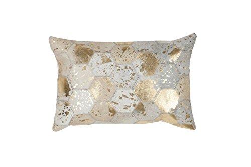 Sofa-Kissen Dekokissen modern Design Couch Spark Pillow 210 Rauten Muster Leder 40x60 cm Beige/Zierkissen günstig online kaufen