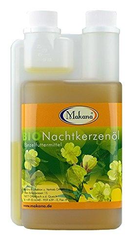 Makana BIO Nachtkerzenöl für Tiere, nativ gepresst, 100% rein, 500 ml Dosierflasche (1 x 0,5 l)