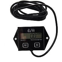 SODIAL(R) Cuentarrevoluciones Electronico con Bateria Lition 12V