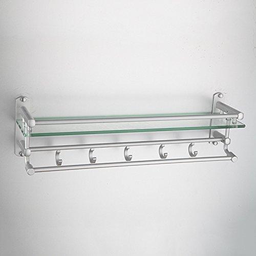 Glas-waschtisch Kommode (ACCQQER Handtuchhalter, Regal, Kommode, Badezimmer Aus Glas Anhänger 600 Lange)
