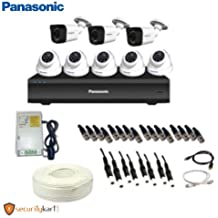 Panasonic 2 Megapixel CCTV Camera Kit 5 Dome Camera, 3 Bullet Camera, Power Supply, 8 CH DVR and 90m Cable with Connectors