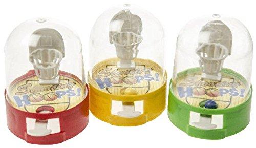 1 x Mini-Basketballspiel mit 1 Ball, ca. 4,5x6 cm, verschiedene Farben