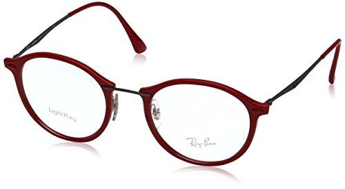 Ray-Ban Unisex-Erwachsene Brillengestell RX7073, Schwarz (Negro), 49