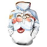 Sunuwill Herren Kapuzenpullover Winterjacke Hoodie Sweatshirt Pullover V Ausschnitt Parka Warm Mit ReißVerschluss Hässliche Weihnachtsmann Xmas Jacke 3D Print Santa Sportswear Langarm Mantel