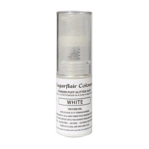 Sugarflair Powder Puff Glitter Nicht-Aerosol Spray - Kuchen Dekoration (Light Silver (Licht Silber))