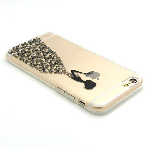 ARTLU® Silicone Étui Housse Protecteur TPU Coque pour Apple iPhone 6 Plus / iPhone 6S Plus (5.5 pouce) - Henna Series Apple A17 W17