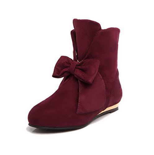 agoolar-womens-round-closed-toe-low-heels-frosted-low-top-solid-boots-claret-43
